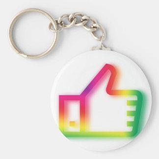 Like this ! basic round button keychain