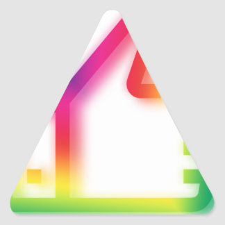 Like this ! triangle sticker