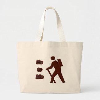 like to hike jumbo tote bag