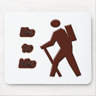 like to hike mouse pad
