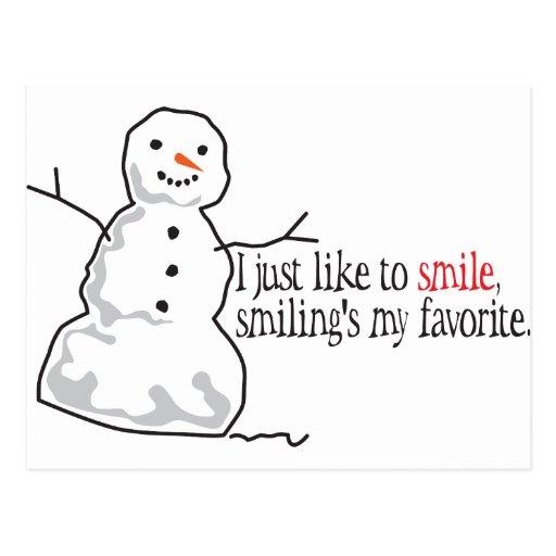 Like To Smile Postcard