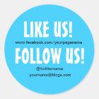 Like us Follow us custom Social Media sticker