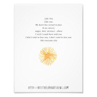 Like You - 8.5 x 11 Poetry Printable Photo Print
