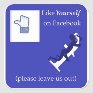 Like Yourself on Facebook Square Sticker