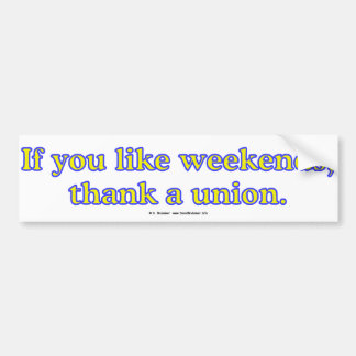 LikeWeekends Bumper Sticker