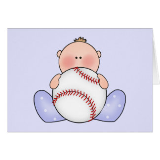 Lil Baseball Baby Boy Note Card