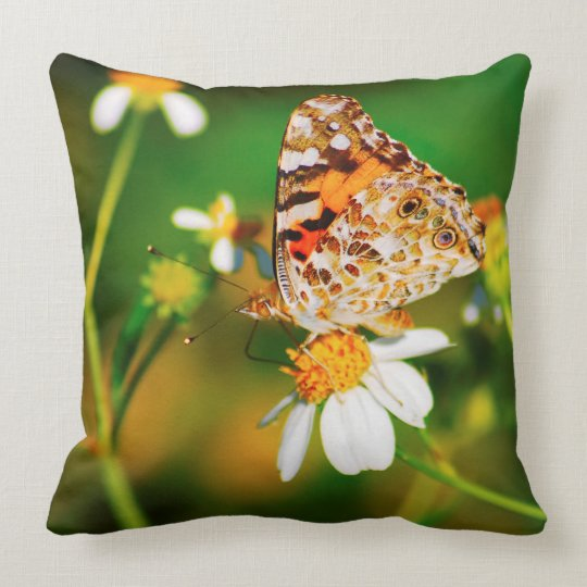 Lil' Beauty Butterfly Throw Pillow by Julie