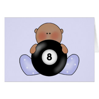 Lil Billiards Baby Girl - Ethnic Note Card