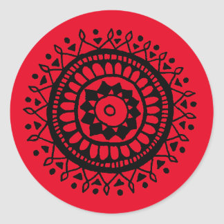 Lil Black Motif Classic Round Sticker