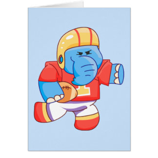 Lil Blue Elephant Football Stationery Note Card