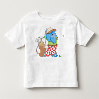 Lil Blue Elephant Golfing Toddler T-shirt