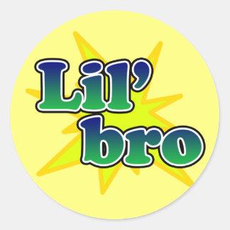 Lil Bro Round Sticker