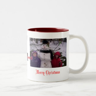 lil bro sis frosty, xmas n mich, xmas n mich, M... Two-Tone Coffee Mug