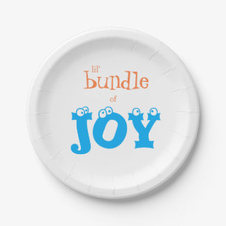 Lil' Bundle of Joy Baby Shower Party Paper Plates 7 Inch Paper Plate