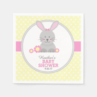 Lil Bunny Baby Shower Disposable Napkins