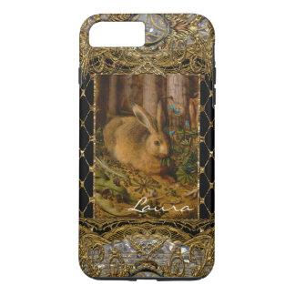 Lil Bunny in the Garden Elegant Monogram iPhone 8 Plus/7 Plus Case