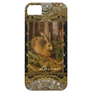 Lil Bunny in the Garden Monogram Case For The iPhone 5