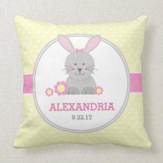 Lil Bunny (pink) Throw Pillow