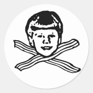Lil Chiz Loves Bacon Sticker! Classic Round Sticker