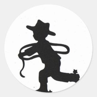 Lil cowboy classic round sticker