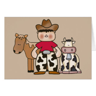 Lil Cowboy Note Card