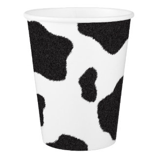 Lil' Cowgirl Baby Shower Cow Print Paper Cup