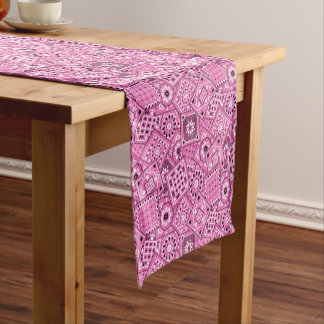 Lil' Cowgirl Baby Shower Pink Bandanna Short Table Runner