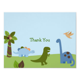 Lil Dino Dinosaur Boys Thank You Note Cards