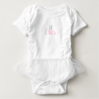 Lil Diva 100% Cotton Jersey Bodysuit