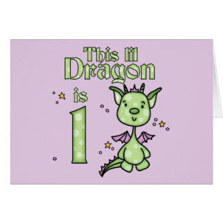 Lil Dragon 1st Birthday Note Card