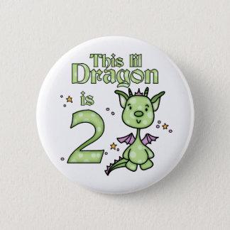 Lil Dragon 2nd Birthday 2 Inch Round Button