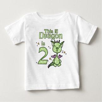 Lil Dragon 2nd Birthday Baby T-Shirt