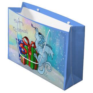 lil' Dragon Snowflake Large Gift Bag