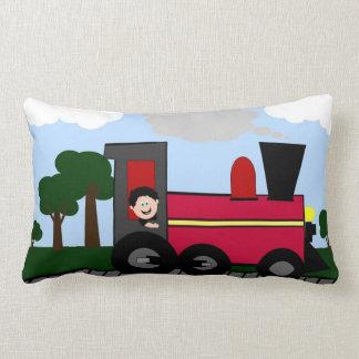 Lil' Engineer Choo Choo Train Lumbar Pillow