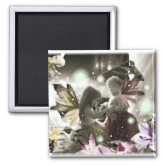 Lil Fairy Sisters Square Magnet
