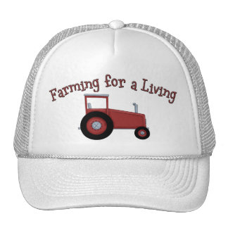 Lil' Farmers Tractor Farming for a Living Cap Trucker Hat