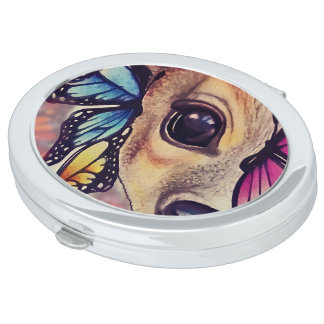 ● Lil Fawn and Butterflies ● Compact Mirror