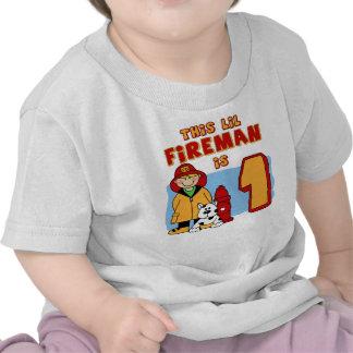 Lil Fireman 1st Birthday T Shirts