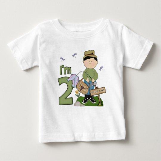 Lil Fisherman 2nd Birthday Baby T-Shirt