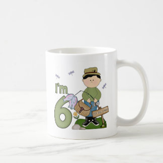 Lil Fisherman 6th Birthday Coffee Mug
