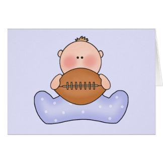 Lil Football Baby Boy Note Card