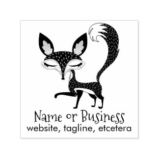 Lil Fox Personalized Text Self Inking Stamp