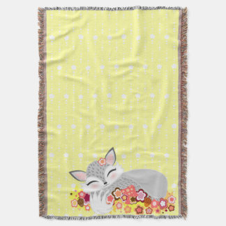 Lil Foxie Cub - Cute Baby Fox Throw Blanket