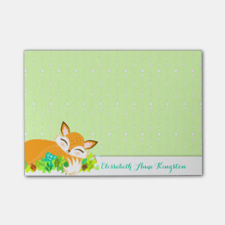 Lil Foxie Cub - Cute Fox Custom Post-it® Notes