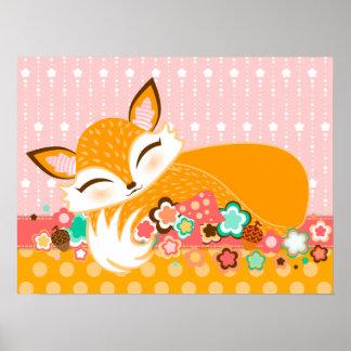 Lil Foxie Cub - Cute Fox Wall Poster