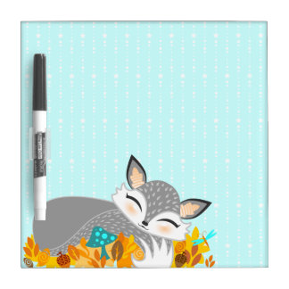 Lil Foxie Cub - Cute Sleepy Fox Dry Erase Board