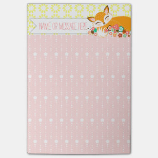 Lil Foxie - Cute Girly Fox Custom Post-it® Notes
