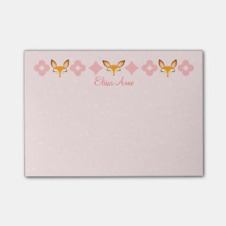Lil Foxie - Cute Girly Foxes Custom Post-it® Notes
