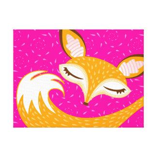 Lil Foxie - Sleepy Fox Canvas Art Canvas Prints