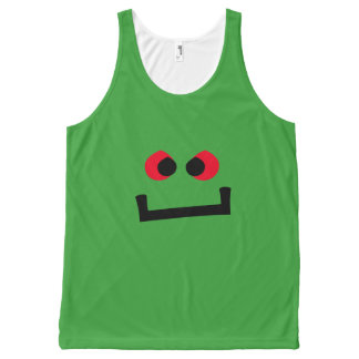 Lil' Green Monster Emoji All-Over-Print Tank Top